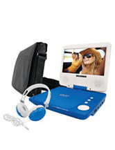 Sylvania 3-pc. Blue 7 Inch Swivel-screen Portable DVD Player