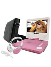 Sylvania Pink 7 Inch Swivel-Screen Portable DVD Player