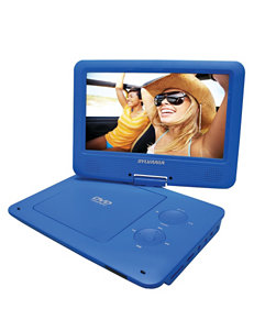 Sylvania Blue 9 Inch Portable DVD Player With 5-hour Battery