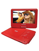 Sylvania Red 9 Inch Portable DVD Player With 5-hour Battery