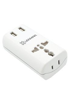 Lenmar  Ultracompact All-in-One Travel Adapter With USB Port