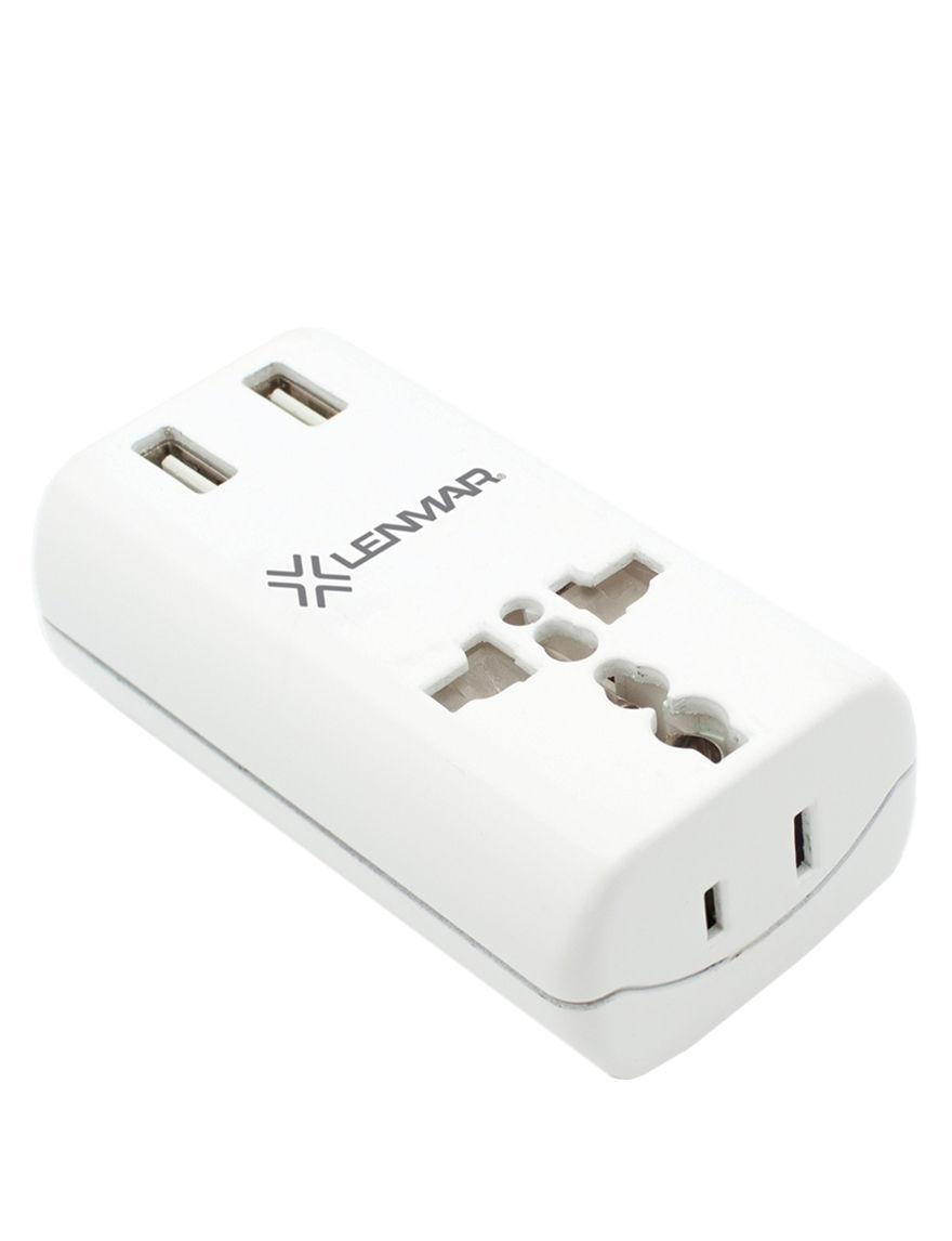 Lenmar White Cables & Outlets Tech Accessories