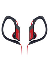 Panasonic Red Sweat-Resistant Sports Earbuds