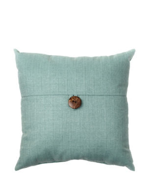 Dynasty Decorative Pillows : Dynasty Turquoise Single Button Decorative Pillow Stage Stores