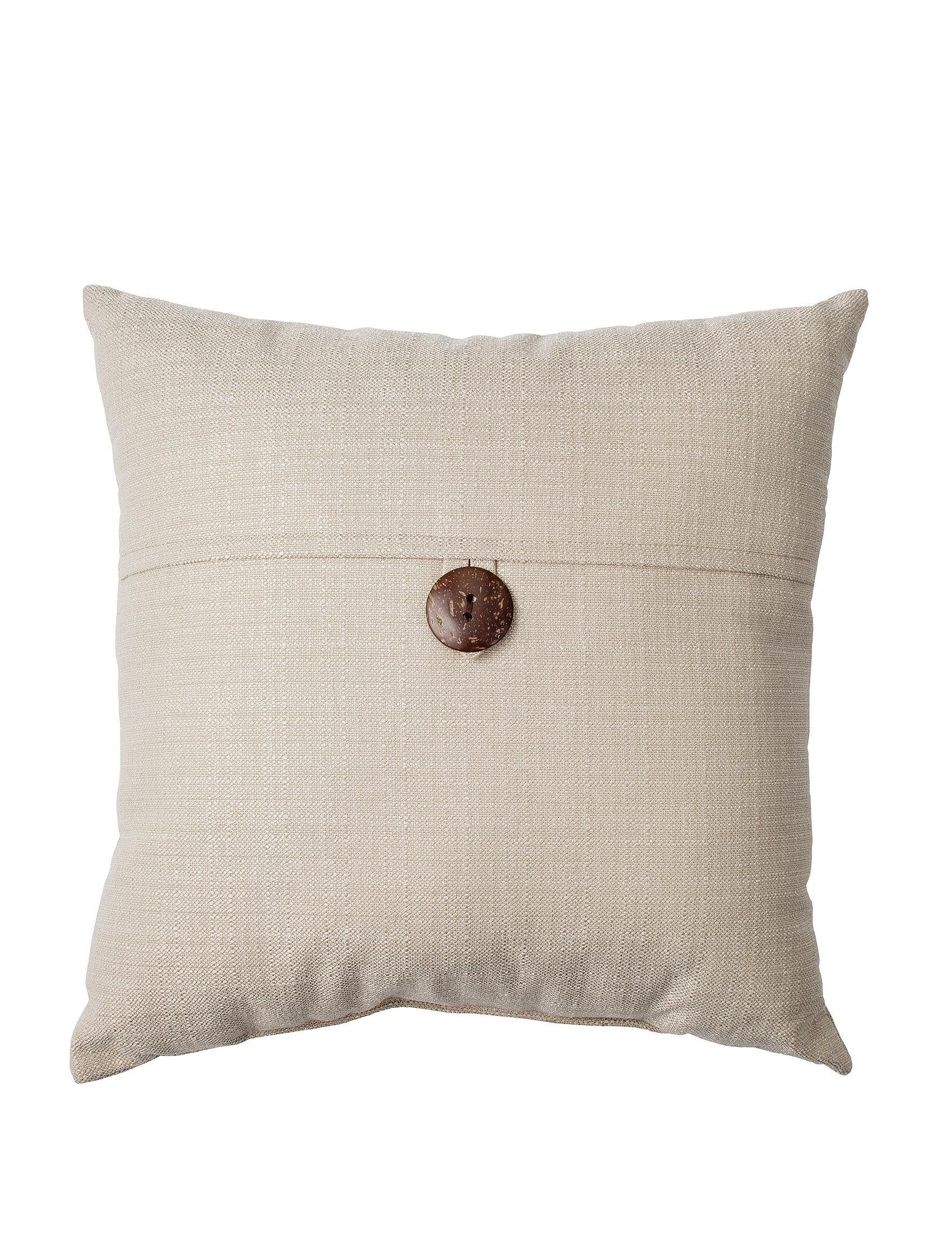Home Fashions International Linen Decorative Pillows