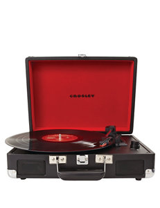 Crosley Radio Black Turntables Home & Portable Audio
