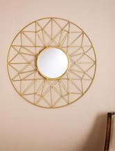 Southern Enterprises Kerala Round Decorative Mirror
