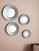 Southern Enterprises 4-pc. Silver Sphere Wall Mirror Set