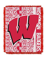 Wisconsin Badgers Double Play Jacquard Throw
