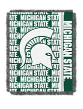 Michigan State University Double Play Jacquard Throw