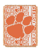 Clemson University Double Play Jacquard Throw