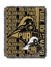Purdue University Double Play Jacquard Throw