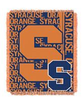 Syracuse University Double Play Jacquard Throw
