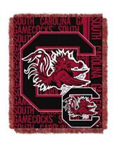 University of South Carolina Double Play Jacquard Throw