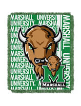 Marshall Thundering Herd Double Play Jacquard Throw