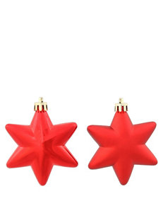 Christmas Central 36-pc. Matte Red Star Shatterproof Christmas Ornaments