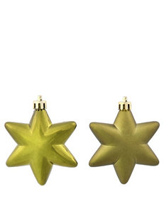 Christmas Central 36-pc. Matte Olive Green Star Shatterproof Christmas Ornaments