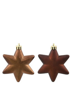 Christmas Central 36-pc. Matte Brown Star Shatterproof Christmas Ornaments