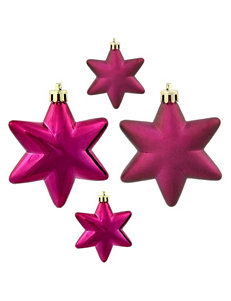 Christmas Central 36-pc. Matte Purple Star Shatterproof Christmas Ornaments