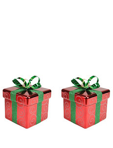 Christmas Central Red & Green Gift Box Shatterproof Christmas Ornaments