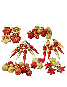 Christmas Central 57-pc. Red & Gold  Shatterproof Christmas Ornaments