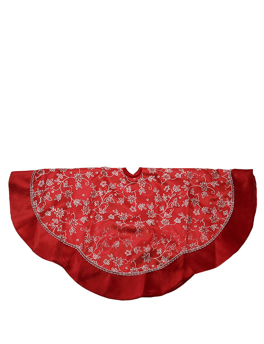 Christmas Central Red Stockings & Tree Skirts Holiday Decor