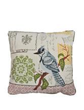 Artistic Linen Little Bird Pillow