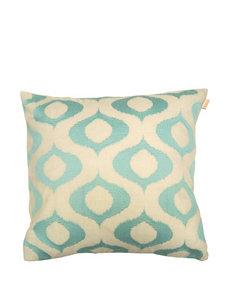 Compass Ivory/ Aqua Decorative Pillows