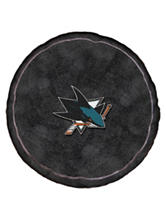 San Jose Sharks Puck-Shaped 3D Plush Pillow