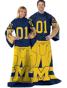 University of Michigan Adult Fleece Comfy Throw