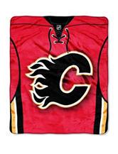 Calgary Flames Jersey Raschel Throw