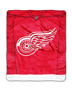 Detroit Red Wings Jersey Raschel Throw