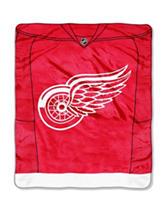 Detroit Red Wings Jersey Raschel Throw