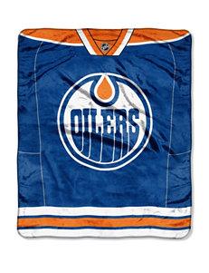 Edmonton Oilers Jersey Raschel Throw