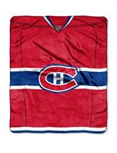 Montreal Canadiens Jersey Raschel Throw