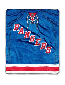New York Rangers Jersey Raschel Throw