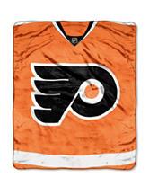 Philadelphia Flyers Jersey Raschel Throw