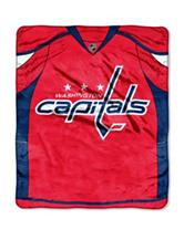 Washington Capitals Jersey Raschel Throw