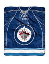 Winnipeg Jets Jersey Raschel Throw