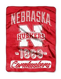 University of Nebraska Cornhuskers Varsity Raschel Throw