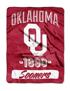Oklahoma Sooners Varsity Raschel Throw