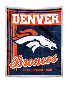 Denver Broncos Mink with Sherpa Throw