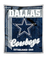 Dallas Cowboys Mink with Sherpa Throw