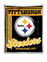 Pittsburg Steelers Mink with Sherpa Throw