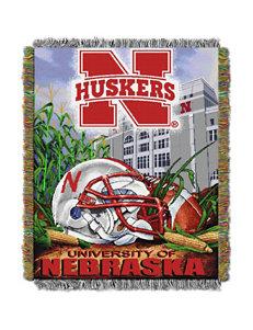 Nebraska Cornhuskers Home Field Advantage Woven Tapestry Throw