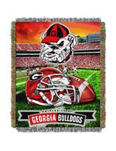 Georgia Bulldogs Home Field Advantage Woven Tapestry Throw