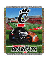 Cincinnati Bearcats Home Field Advantage Woven Tapestry Throw