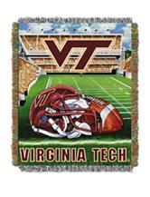 Virginia Tech Home Field Advantage Woven Tapestry Throw