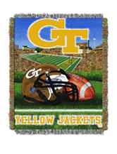 Georgia Institute of Technology Home Field Advantage Woven Tapestry Throw
