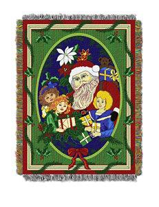 Santa Joy Woven Tapestry Throw